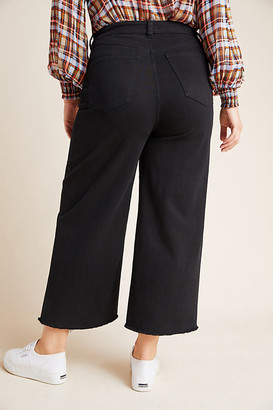 DL1961 Hepburn High-Rise Cropped Plus Wide-Leg Jeans By DL1961 in Black Size 16W
