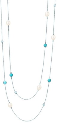 Tiffany & Co. Elsa Peretti Color by the Yard sprinkle necklace in silver with turquoise