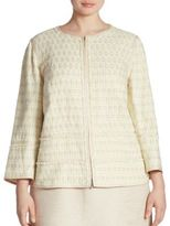 Lafayette 148 New York, Plus Size Aisha Tweed Jacket