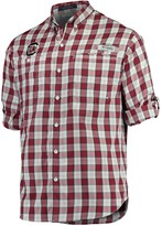 Columbia Unbranded Men's Garnet South Carolina Gamecocks Plaid Omni-Shade Collegiate Super Tamiami Button-Down Long Sleeve Shirt