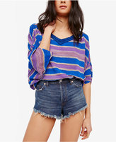 Free People Love Me Too Striped V-Neck Top