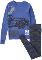 Joe Fresh Kid Boys' 2 Piece Sleep Set, Blue Jay (Size L)