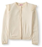 Pink Angel Ruffle Shoulder Cardigan Sweater (Little Girls & Big Girls)
