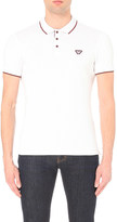 Armani Jeans Slim-fit striped trim stretch-cotton polo shirt