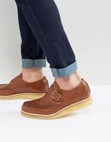 Clarks Burcott Monk Leather Shoes