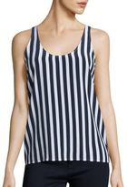 AG Jeans Striped Silk Tank Top