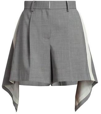 Sacai Asymmetric Suiting Shorts