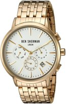 Ben Sherman Men's 'Portobello Professional' Quartz Stainless Steel Automatic Watch, Color:Silver-Toned (Model: WB028GMA)