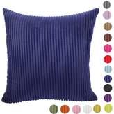 JewellryUS Home Decorative Stripe Corduroy Cushion Cover Throw Pillow Case,16 Colors 10 Size Choose