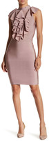Wow Couture Cascade Front Mesh Bodycon Dress