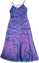 Christian Dior Purple Silk Dress for Women