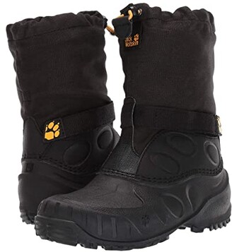 Jack Wolfskin Kids Iceland High (Toddler/Little Kid/Big Kid) (Black/Burly Yellow XT) Kids Shoes