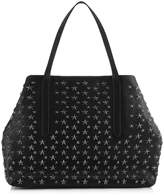 PIMLICO Black Leather Tote Bag with Gunmetal Stars