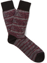 Missoni Wool-blend Socks - Burgundy