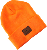 John Deere Orange 'John Deere' Leather Patch Beanie - Men