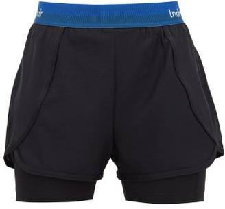 LNDR Dooble Logo-jacquard Mesh Shorts - Womens - Black