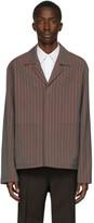 Maison Margiela Burgundy Tonic Stripe Jackets