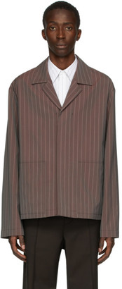 Maison Margiela Burgundy Tonic Stripe Jackets