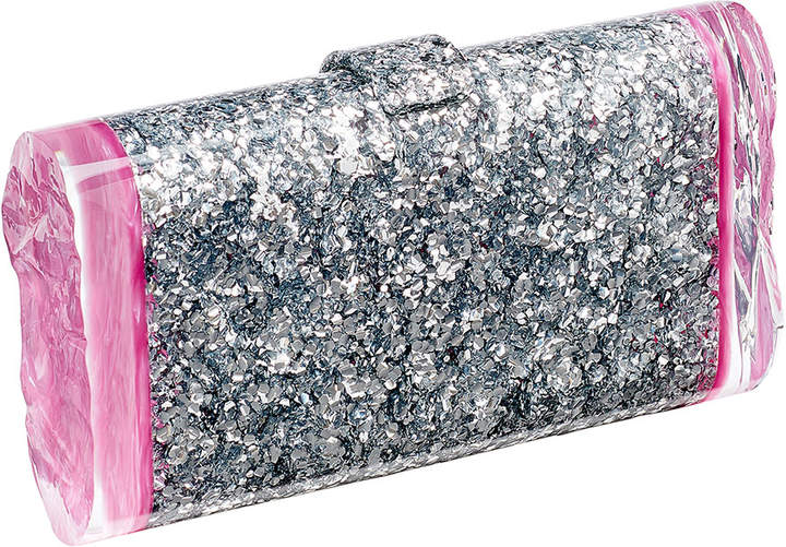 Edie Parker Lara Backlit Confetti Clutch Bag