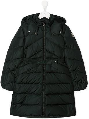 Moncler Enfant Padded Belted Coat