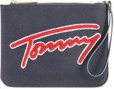 Tommy Hilfiger Aurora Embellished Canvas Clutch