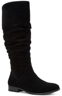 Style&Co. Style & Co Kelimae Wide-Calf Scrunched Boots, Created for Macy's Women's Shoes