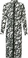 Andrea Marques - midi printed shirt dress - women - Silk - 38
