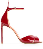 Francesco Russo stiletto sandals - women - Patent Leather/Leather - 35.5