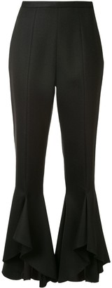 Giambattista Valli High-Rise Frilled Trousers