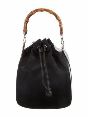 Gucci Vintage Bamboo Bucket Bag Black