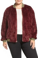 Melissa McCarthy Reversible Faux Fur Jacket (Plus Size)