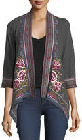 Johnny Was Langley French Terry Draped Cardigan, Plus Size