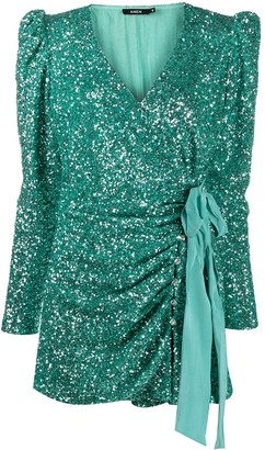 Amen Sequined Fitted Mini Dress