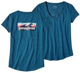 Patagonia Women's Board Short Logo Cotton/Poly Scoop T-Shirt
