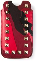 Valentino Garavani 'Rockstud' iPhone case - women - Calf Leather - One Size