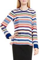 Vince Camuto Women's 'Escape Stripe' Jewel Neck Blouse