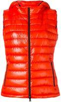 Herno zipped hooded gilet - women - Polyamide/Polyester/Spandex/Elastane/Goose Down - 42