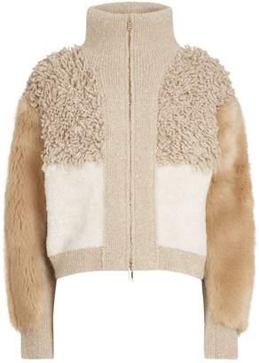 Stella McCartney Patchwork Faux Fur Jacket