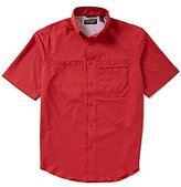 Roundtree & Yorke Cooler Comfort Short-Sleeve Solid Cape Back Sportshirt