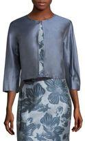Max Mara Ozioso Cropped Cotton & Silk Jacket