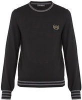Dolce & Gabbana Crown-appliqué wool sweater