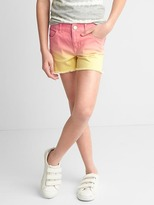 Stretch dip-dye shorty shorts