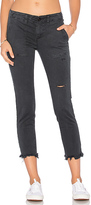 Pam & Gela Shredded Twill Pant in Charcoal. - size 24 (also in 25,26)