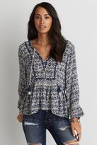 American Eagle Outfitters AE Smocked Peplum Top