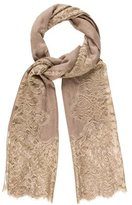 Janavi Cashmere Lace-Accented Scarf w/ Tags