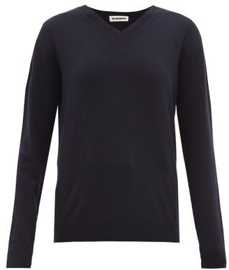 Jil Sander V-neck Cashmere Sweater - Womens - Navy