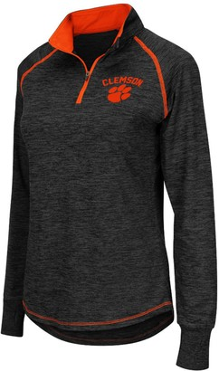 Colosseum Women's Black Clemson Tigers Bikram 1/4 Zip Long Sleeve Jacket