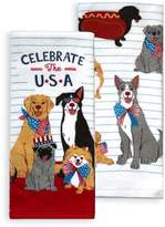 Celebrate Americana Together Dog Bless the USA Kitchen Towel 2-pack
