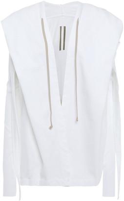 Rick Owens Draped Cotton-jersey Hooded Jacket