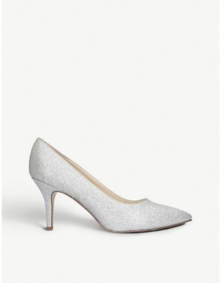 Nine West Flagship 75 glitter court shoes